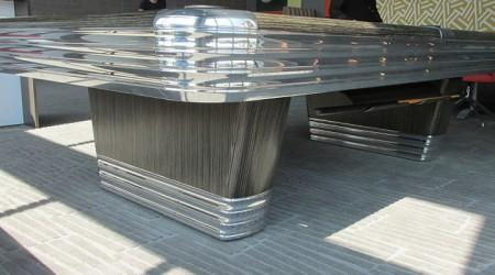 Restored Centennial billiards table