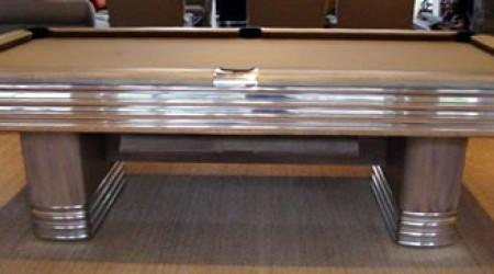 Antique The Centennial billiards table, restored