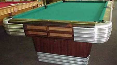 Restored Centennial - antique billiard table restored