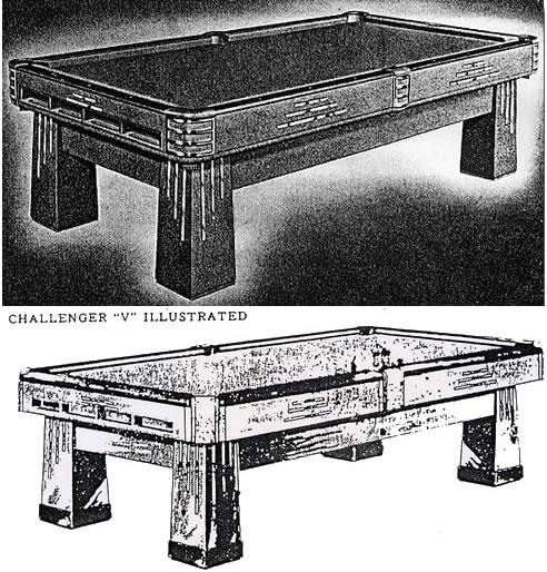 The Challenger - original brunswick pool table