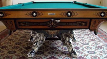 The Champion, original  Brunswick billiards table restored