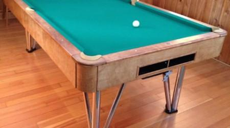 Restored antique Champion Deco billiards table
