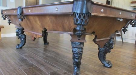 Professional restoration: The Charles Schulenburg II billiards table