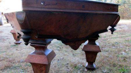 Restoration project Charles Schulenburg II billiard table