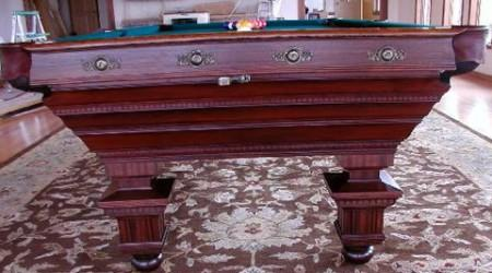 The Chicago, an antique billiard table restored to factory specs