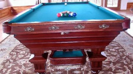 Newly restored to factory specs, The Chicago antique pool table