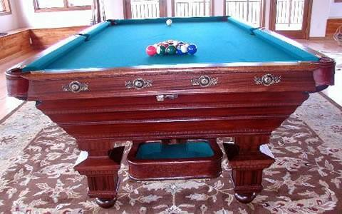 ... Newly Restored To Factory Specs, The Chicago Antique Pool Table ...