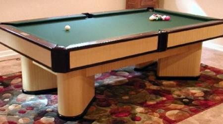 The Commander, a fully restored antique billards table