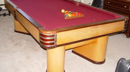 Restored antique billards table, The Commander