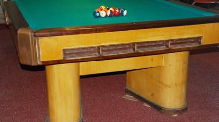 Restored billiards table The Commander, an antique