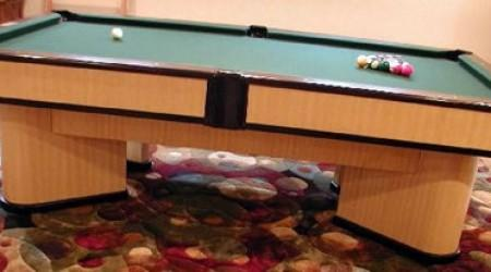 The Commander, a fully restored billiards table