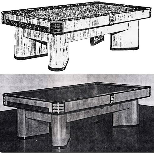Original catalog image of The Commander pool table