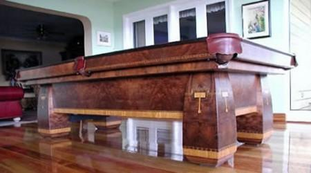 Brunswick's Conqueror billiard table, restored