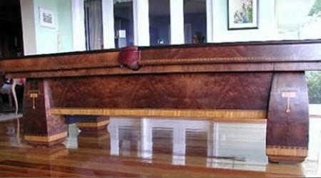 Brunswick's Conqueror pool table, restored