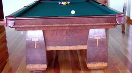 Brunswick's Conqueror antique pool table, restored