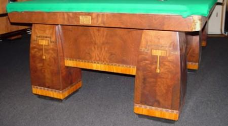 Fully restored Brunswick Conqueror, antqiue pool table