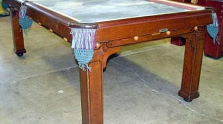 The Cozy Home Antique Pool Table from Billiard Restoration Service