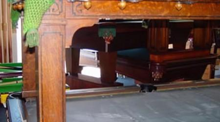 The Cozy Home Antique Billiard/Pool Table from Billiard Restoration Service