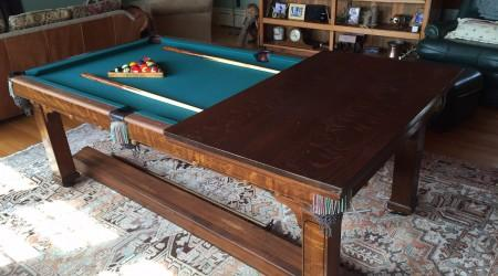 Fully restored antique Cozy Home billiards table