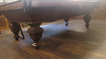 "Antique ""The Delaware"" billiards table, full restoration"