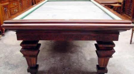 E. Gerderes fully restored antique billiards table