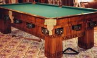 The Alexandria, restored antique pool table by Brunswick