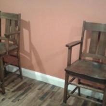 Two Arts/Crafts antique observation chairs