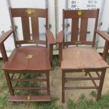 Front view, Arts/Crafts observation chairs