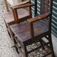 Arts/Crafts Observation Chairs - Restored Antique Billiard Accessory