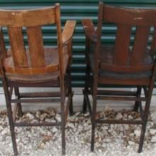 Arts/Crafts Observation Chairs restored by Billiard Restoration Service