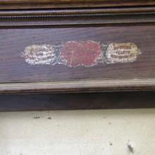 B.A. Stevens antique billiards cue rack