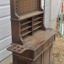 Restoration project: Antique billiard cabinet #2