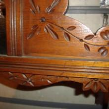 Floral carvings on Brunswick & Co Cue Rack (Antique)