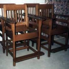 Antique Brunswick No. 350 Billiard Chairs Reproductions