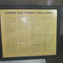Antique Brunswick Rules of the Game framed printing
