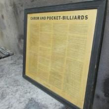 Wooden frame antique Brunswick Rules of the Game