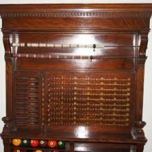 Restored antique dentil billiard cabinet
