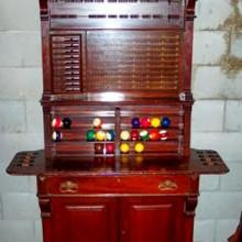 Antique Dentil Billiard Cabinet