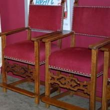 Antique billiard observation chairs