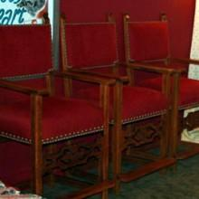 Billiard observation chairs with fretwork