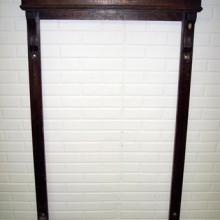 Restored antique Kansas City Billiard cue rack