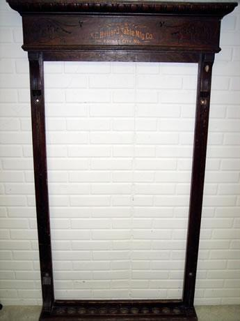 Antique Pool Cue Rack Manufactured By K C Billiard