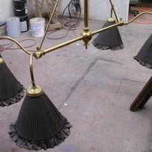 Antique Milan billiard light
