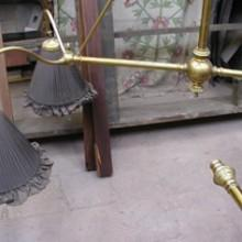 Antique Milan billiard light for restoration