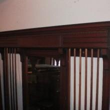 Antique restoration project: Mirrored Dentil Cue Rack