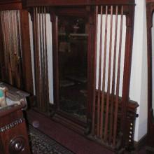 Post restoration: Mirrored Dentil Cue Rack for billiards/pool