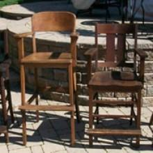 Misc. Single Chairs (restored antique billiard accessories)