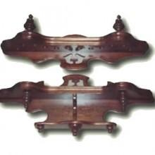 Monarch Cue Rack No. 7, two pieces