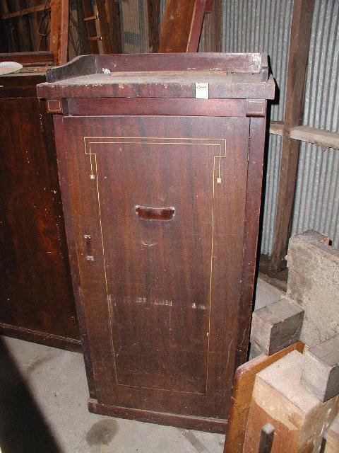 Antique No. 40 Combination Coat Closet U0026 Cue Rack ...