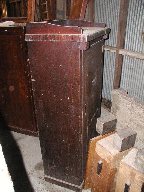 40 Combination Coat Closet U0026 Cue Rack, Orginal Antique ...